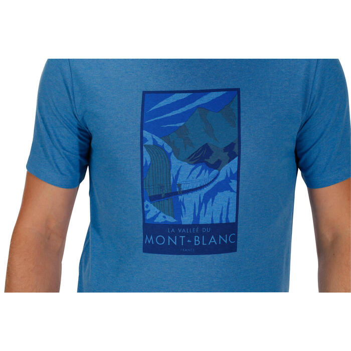 Tee shirt randonnée nature homme NH500 chiné - 1147793