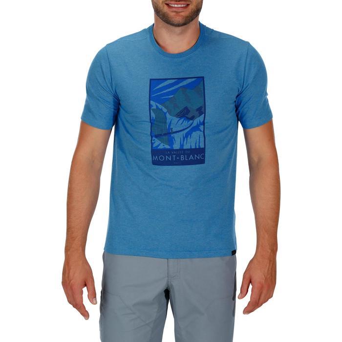 Tee shirt randonnée nature homme NH500 chiné - 1147794