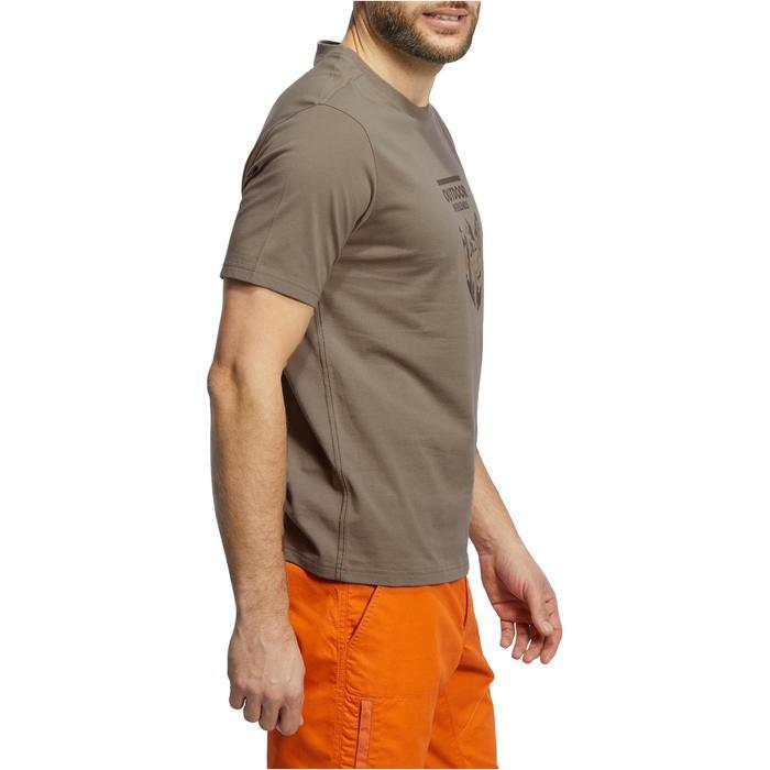 Tee shirt randonnée nature homme NH500 chiné - 1147796