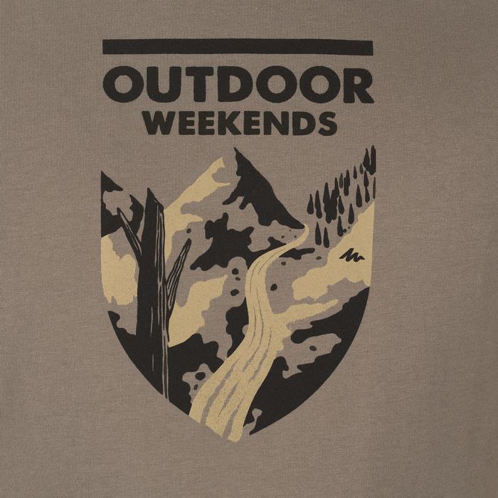 Tee shirt randonnée nature homme NH500 chiné - 1147798