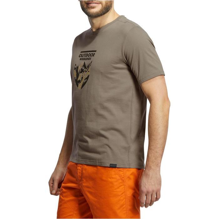 Tee shirt randonnée nature homme NH500 chiné - 1147801