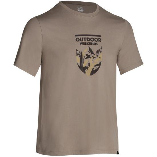 Wandel T-shirt met korte mouwen voor heren Techtil 100 gemêleerd - 1147802