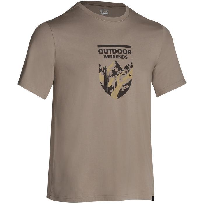 Tee shirt randonnée nature homme NH500 chiné - 1147802