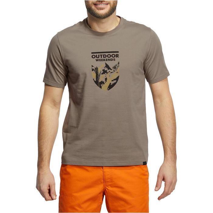 Tee shirt randonnée nature homme NH500 chiné - 1147804