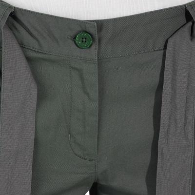 Pantalón corto de Montaña y Trekking, Quechua, NH 500, Mujer, Gris Caqui