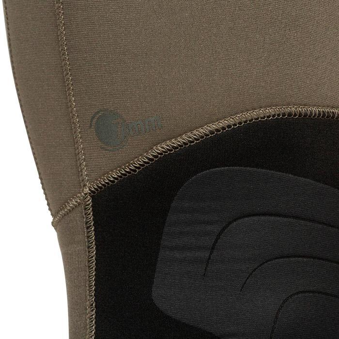 Neoprenhose Trägerhose Apnoetauchen 7mm SPF 100 kaki/grau
