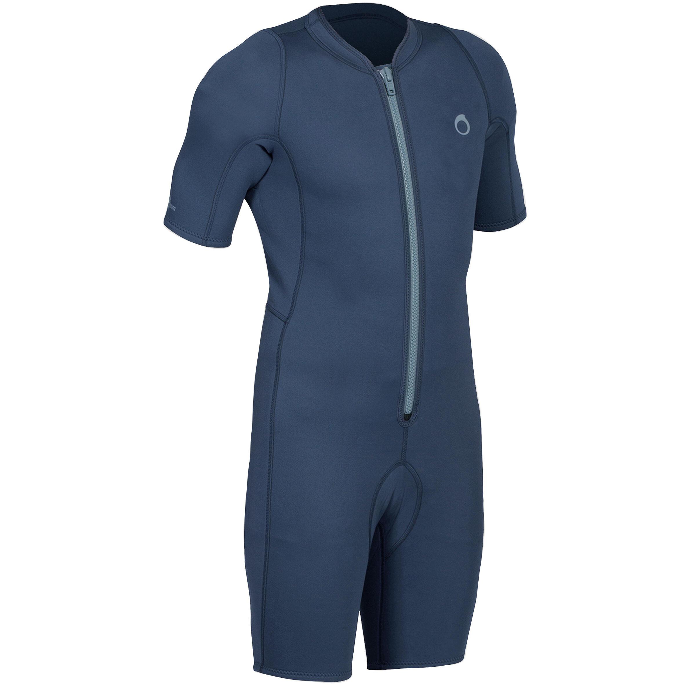 Neoprenanzug Shorty Schnorcheln 100 Herren blau | Sportbekleidung > Sportanzüge > Sonstige Sportanzüge | Blau - Grau | Jersey | Subea
