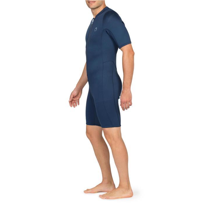 Herenshorty 100 voor snorkelen blauw