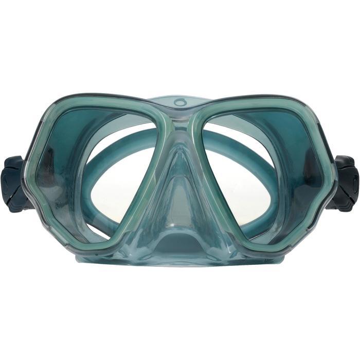Masque de plongée sous-marine en bouteille SCD500 jupe bleu gris cerclage pastel