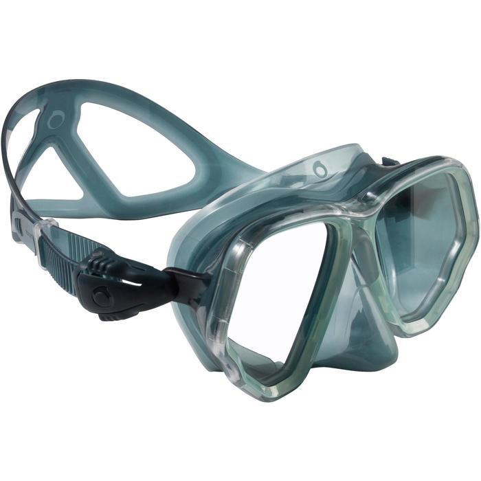 Masque de plongée sous-marine en bouteille SCD500 jupe bleue cerclage - 1148252