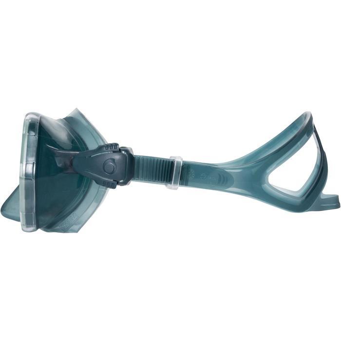 Máscara de submarinismo con botella SCD500 facial azul gris montura pastel