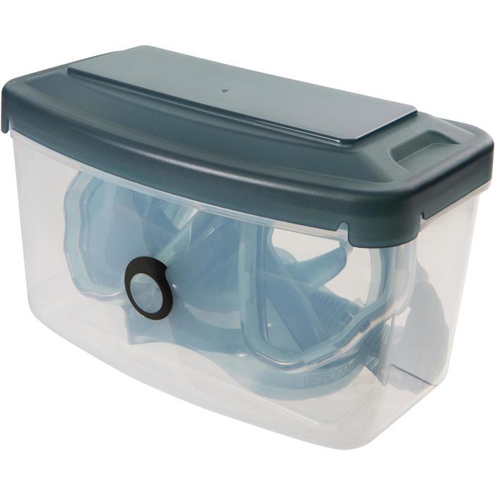 Masque de plongée sous-marine en bouteille SCD500 jupe bleue cerclage - 1148256
