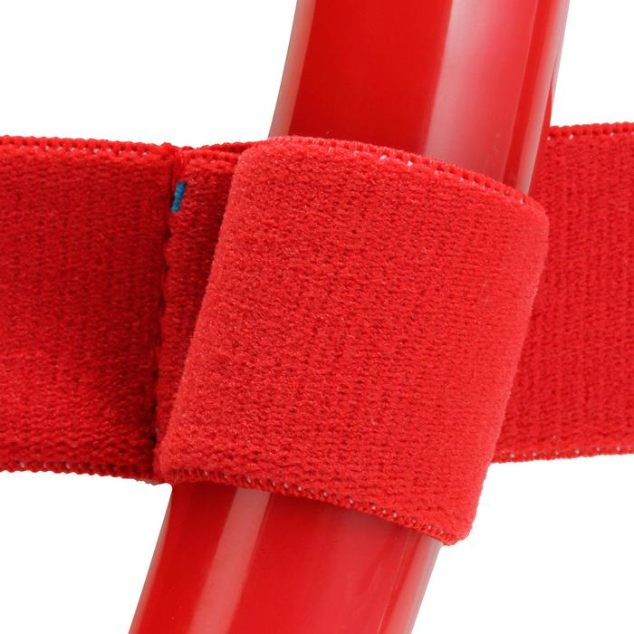 Kit masque tuba d'apnée freediving FRD120 rouge turquoise pour adultes