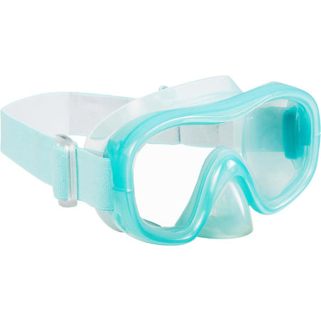 Adult Tempered Glass Snorkelling Mask SNK 520 light blue
