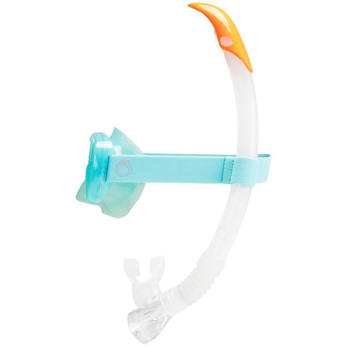 Duikbril SNK 520 voor snorkelen lichtgroen grijs