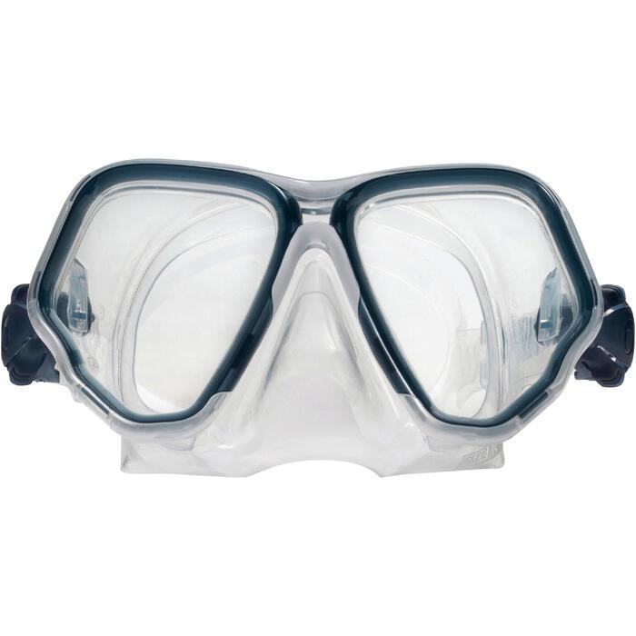 Masque de plongée sous-marine en bouteille SCD500 jupe bleue cerclage - 1148286