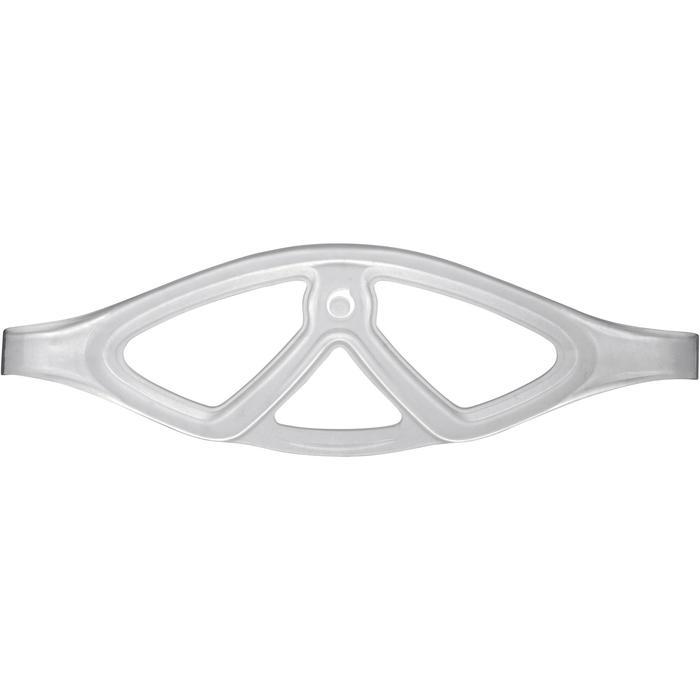 Duikbril SCD 500 doorschijnende mantel en blauwe rand