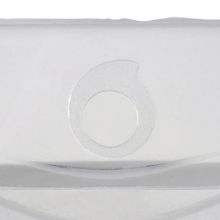 Masque de plongée sous-marine en bouteille SCD 500 jupe cristal et cerclage bleu