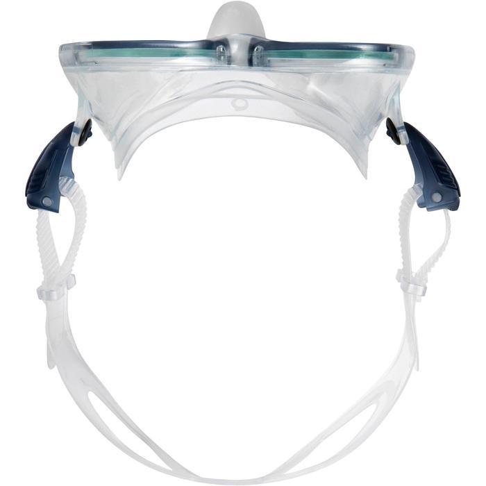 Masque de plongée sous-marine en bouteille SCD500 jupe bleue cerclage - 1148295
