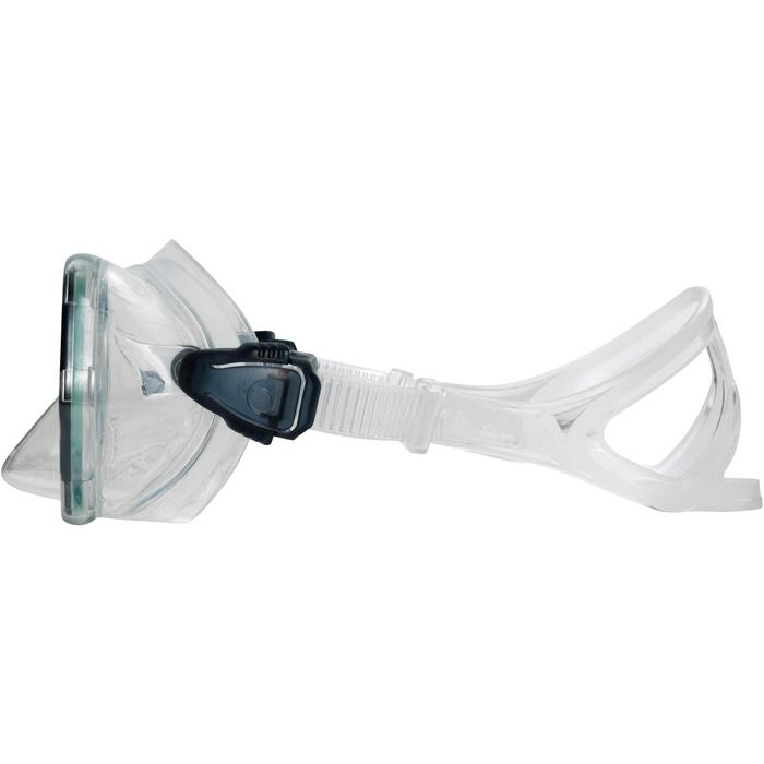 Masque de plongée sous-marine en bouteille SCD500 jupe bleue cerclage - 1148296