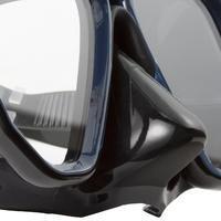 Careta de buceo con botella facial negro y montura azul SCD 500