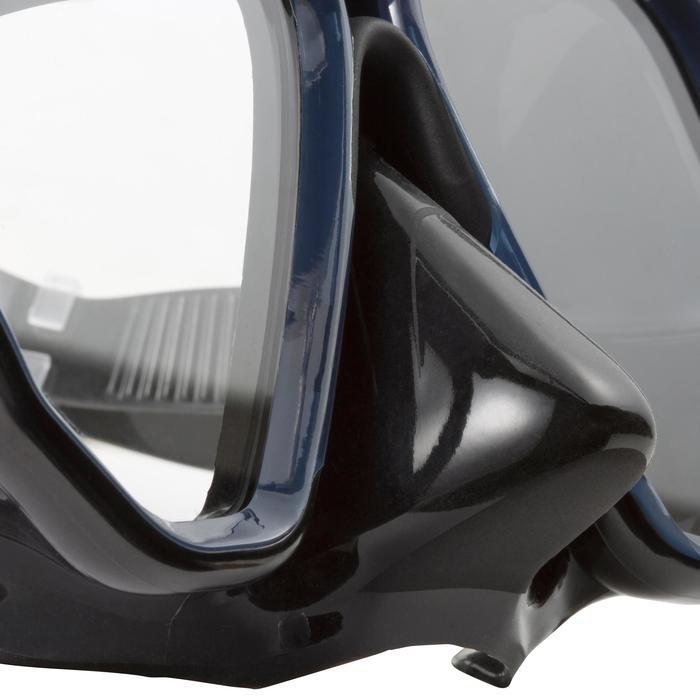 Masque de plongée sous-marine en bouteille SCD500 jupe bleue cerclage - 1148299