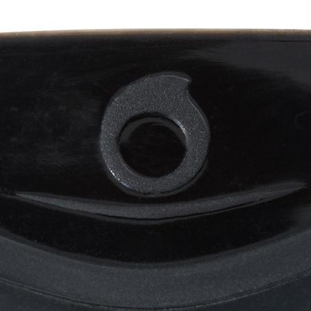 Máscara de buceo con botella SCD 500, facial negro y montura azul