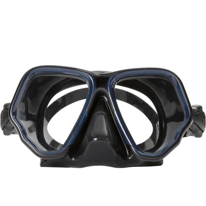 Masque de plongée sous-marine en bouteille SCD500 jupe bleue cerclage - 1148303