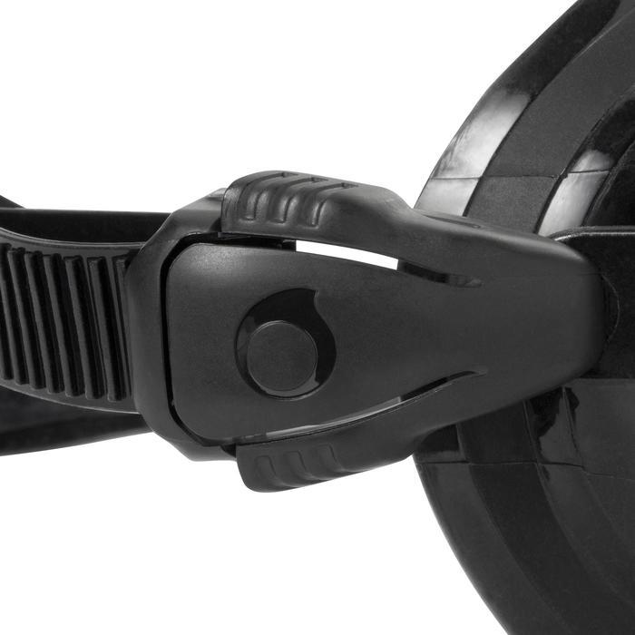 Duikbril met twee aparte glazen SCD 500 zwarte mantel en blauwe rand