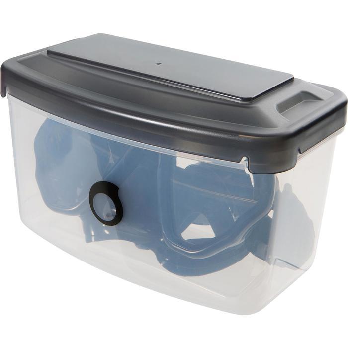 Masque de plongée sous-marine en bouteille SCD500 jupe bleue cerclage - 1148310