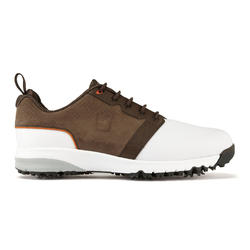 Golfschoenen Contour Fit voor heren, wit en bruin