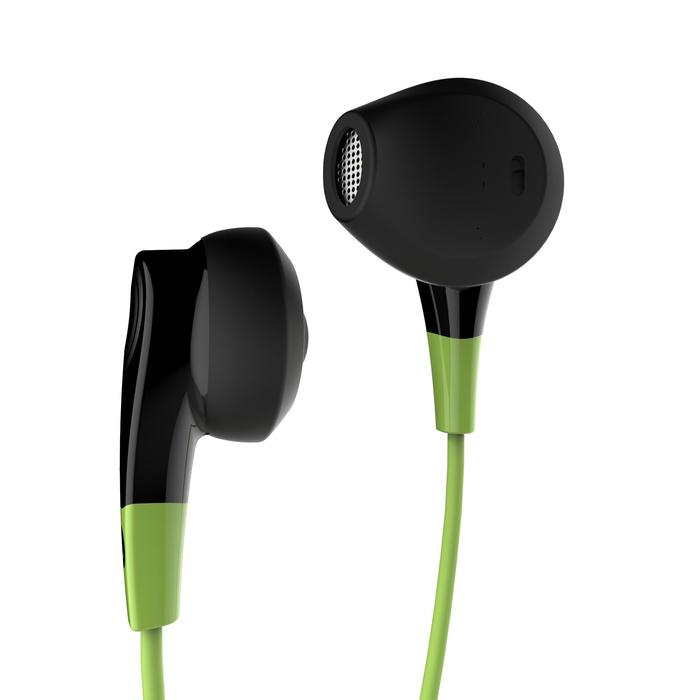 Auriculares running con cable y micro ONear 300 negro verde