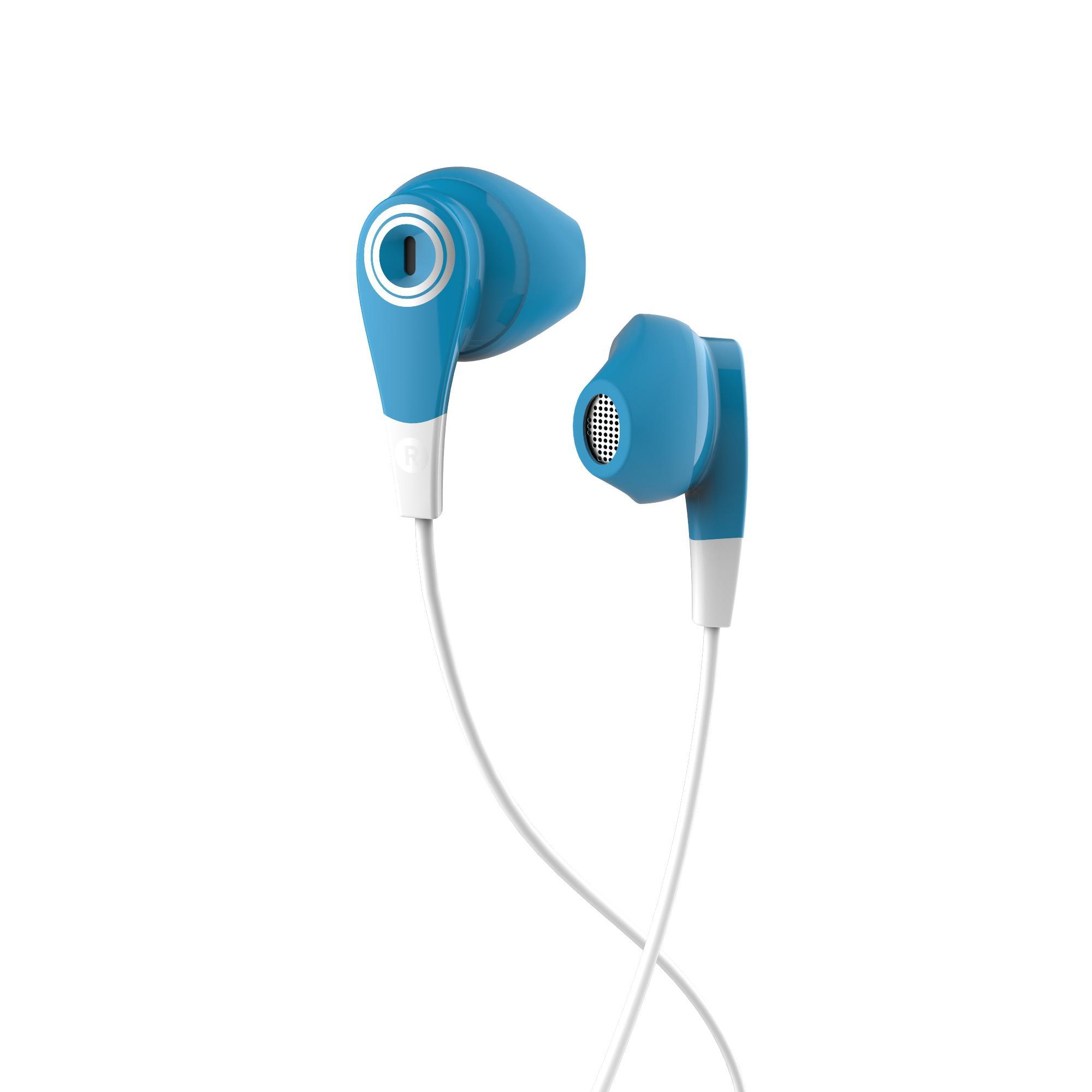 Audífonos con cables y micrófono ONear 300 Azul Blanco