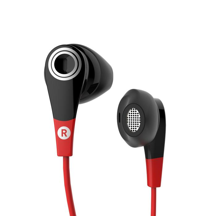 ONear 300 Wired Sports Earphones With Microphone - Black Red - 1148385