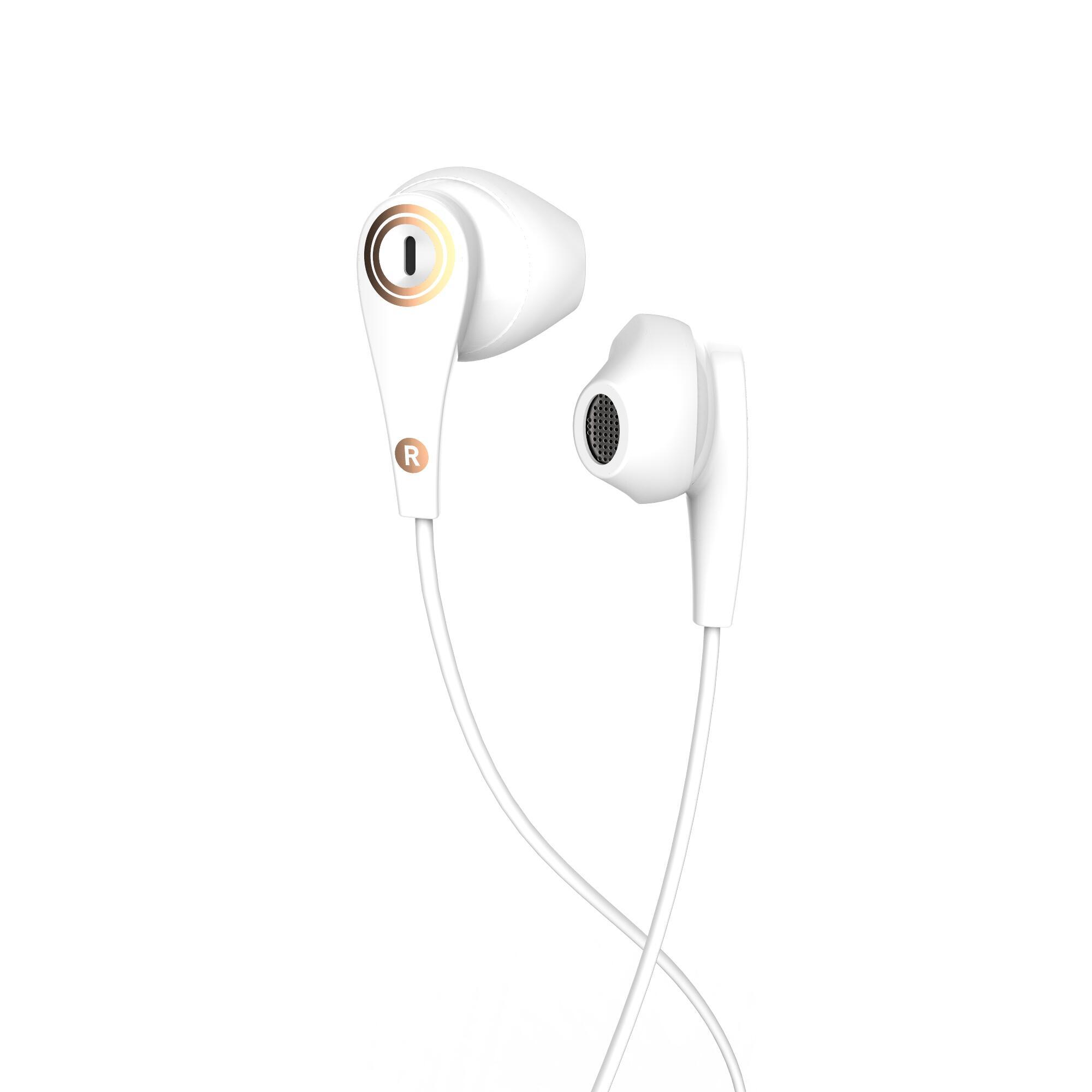 Audífonos deportivos con cables y micrófono ONear 300 Azul Blanco