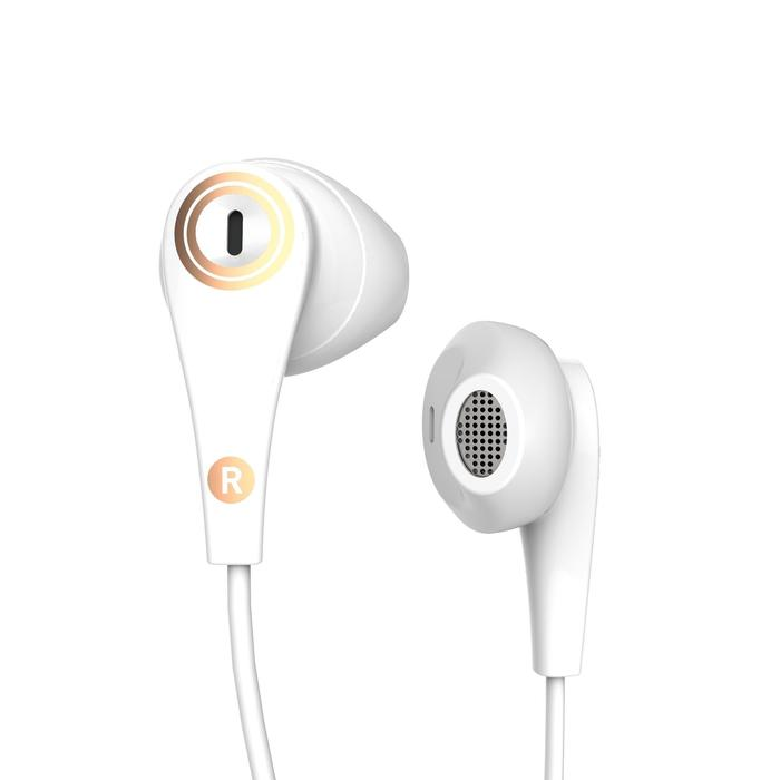 ONear 300 Wired Sports Earphones with Micro - White Leather