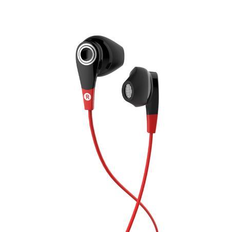 """""""ONear 300"""" laidinės sportinės ausinės su mikrofonu – juodos ir raudonos"""