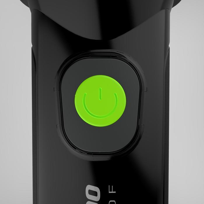 防水手動充電手電筒-DYNAMO 300 WP黑色-35流明