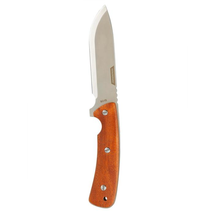 Messer Sika 130 Holz mit feststehender Klinge braun