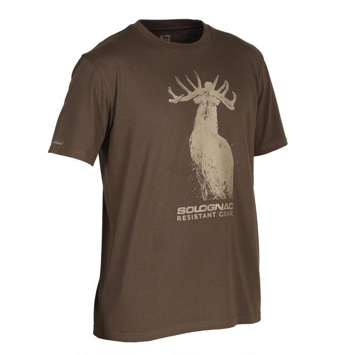 Jagersshirt met korte mouwen 100 Hert