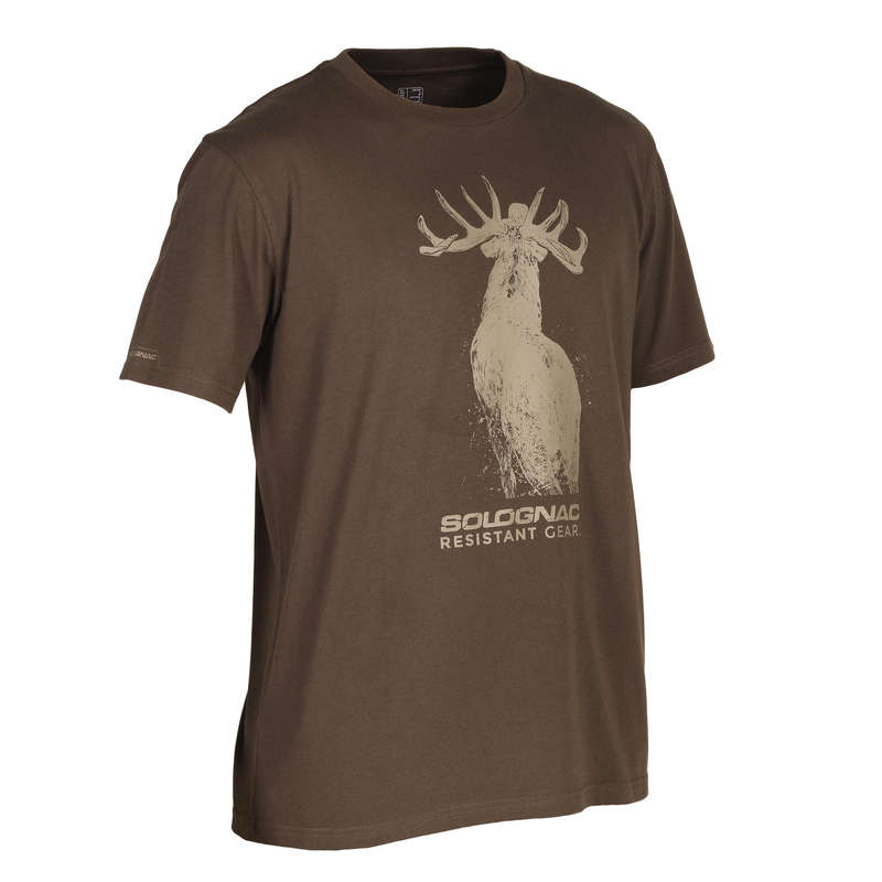 T-SHIRTS/POLOS Shooting and Hunting - 100 SS T-shirt - Deer SOLOGNAC - Hunting and Shooting Clothing