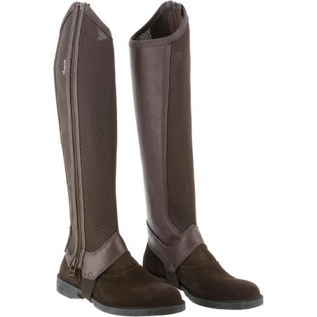 100 Mesh Adult Horse Riding Half-Chaps - Brown