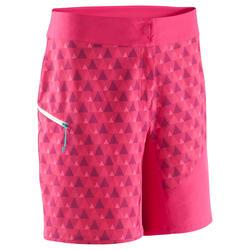 Klimshort Blocshort voor dames roze