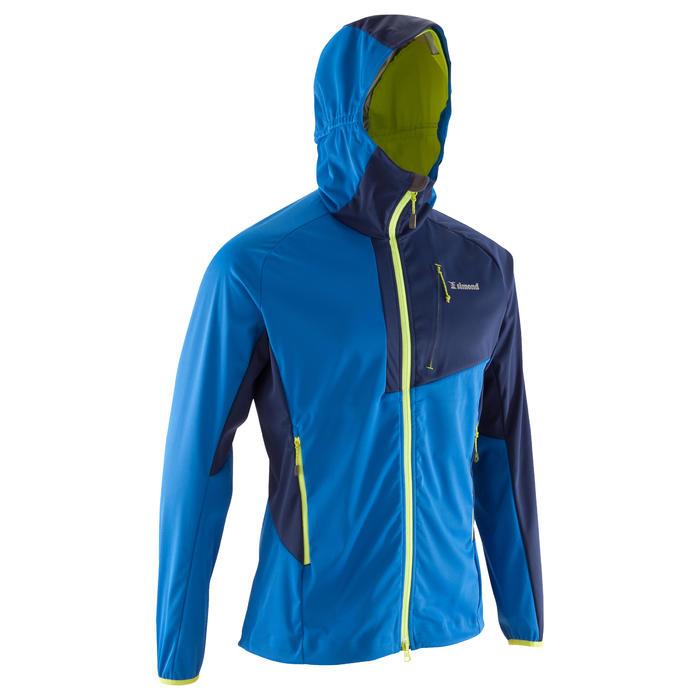 Softshelljas voor alpinisme voor heren Alpinism Light blauw