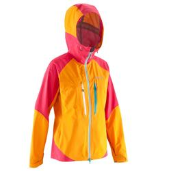 Hardshelljacke Alpinism Light Damen mango/rosa