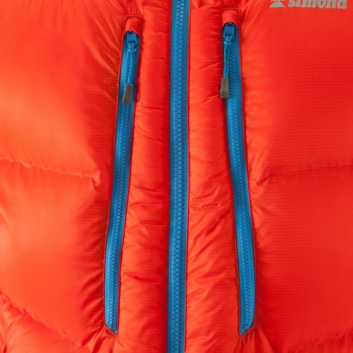 Bergsteiger-Jacke Daunen Makalu II rot