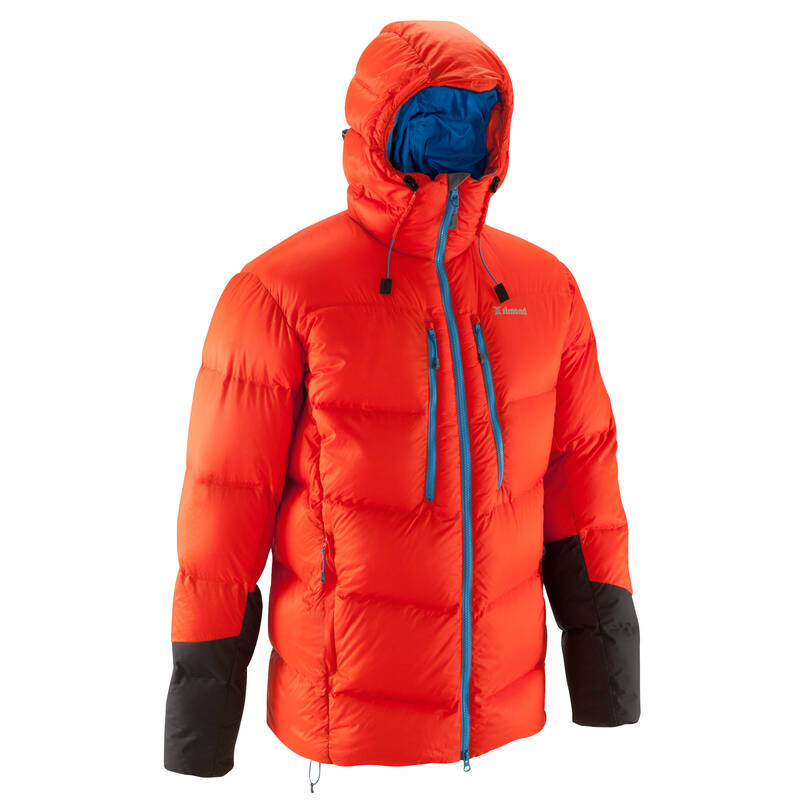 OBLEČENÍ NA ALPINISMUS Alpinismus, horolezectví - PÉŘOVÁ BUNDA MAKALU ČERVENÁ SIMOND - Helmy, oblečení, obuv