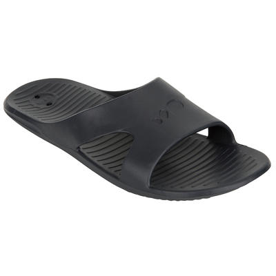 MEN'S POOL SANDALS SLAP BASIC 100 - GREY