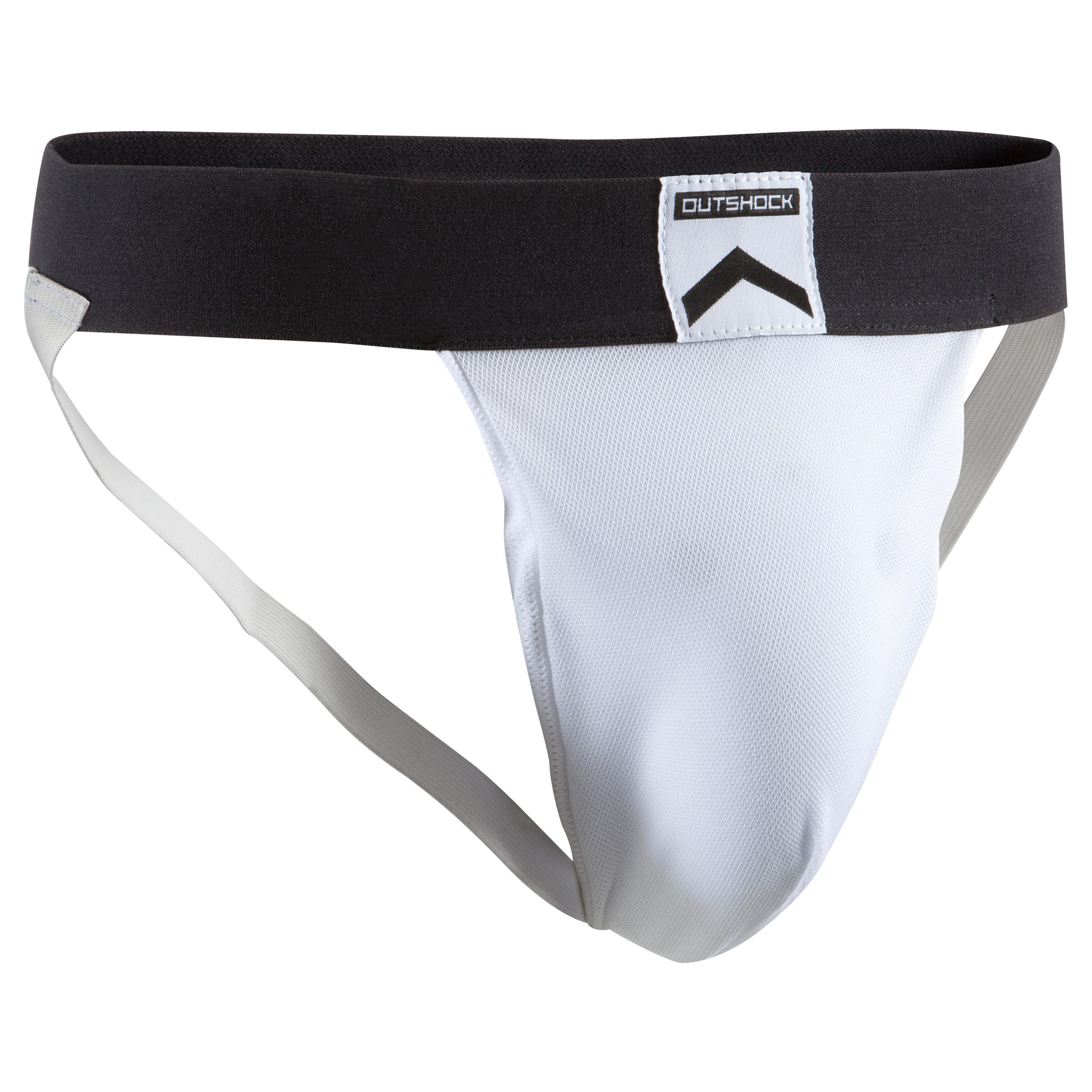 100 Jockstrap with Groin Guard - White