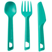 Plastic Hiking and Camping Knife, Fork, and Spoon Set